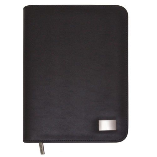 A5 Leather Look Zippered Compendium