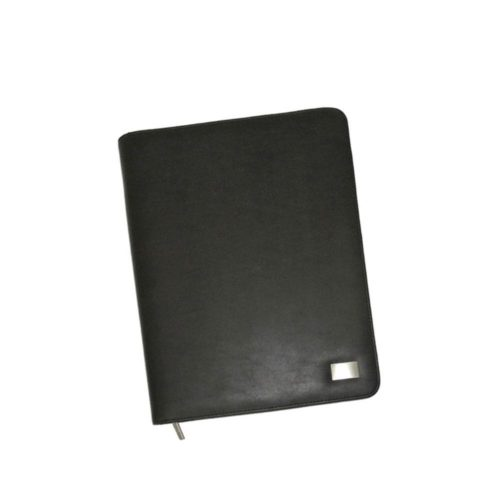 A4 Leather Look Zippered Compendium