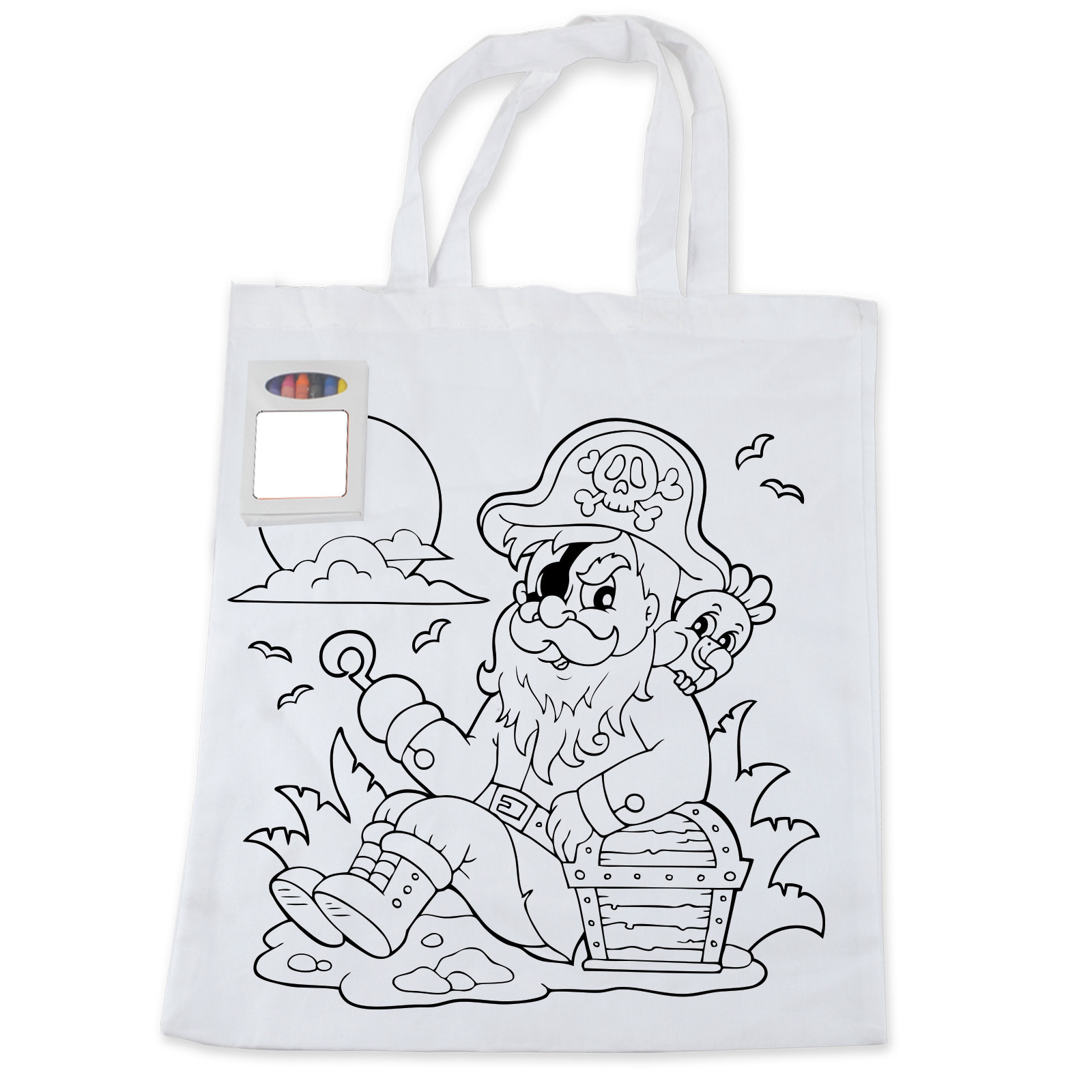 Colouring in bag - Colouring In Short Handle Tote Bag With Crayons Paddywack Promotional Products